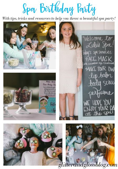 Little girl Spa Birthday Party - tons of resources and info!