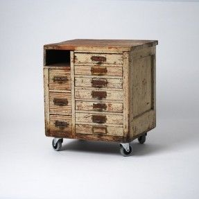Yes please! Beautifully worn old tool box for sale on Until Further Notice.
