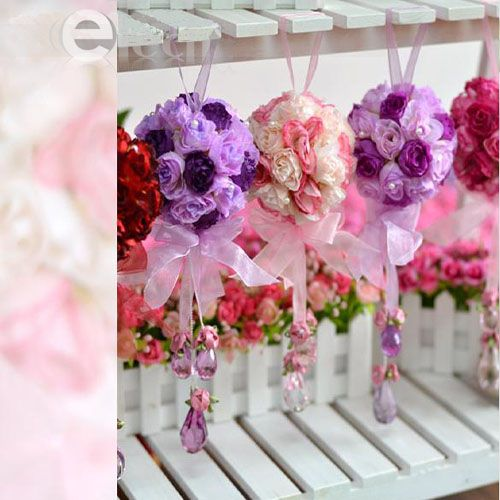 Silk Rose Wedding Flower Kissing Ball Arch Decoration