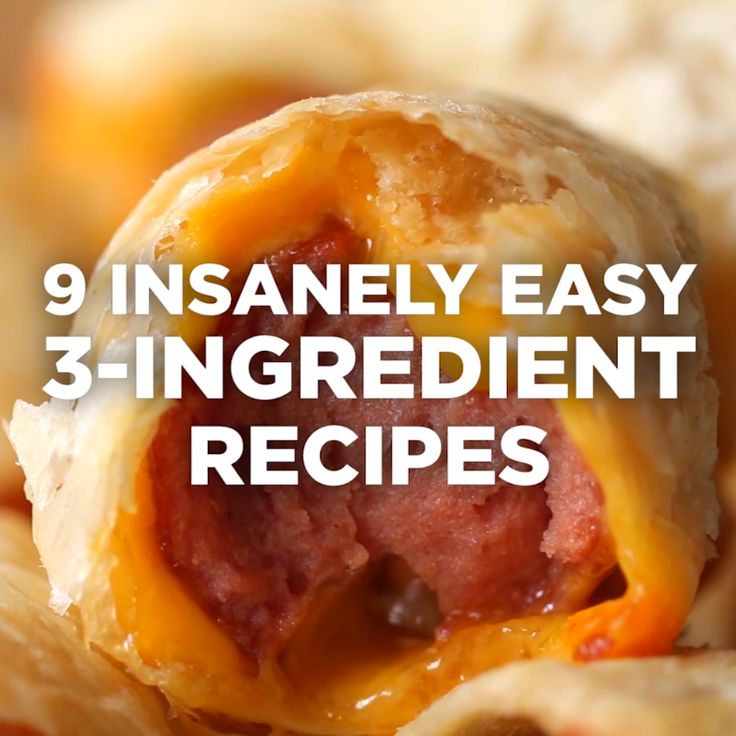 9 Insanely Easy 3-Ingredient Recipes