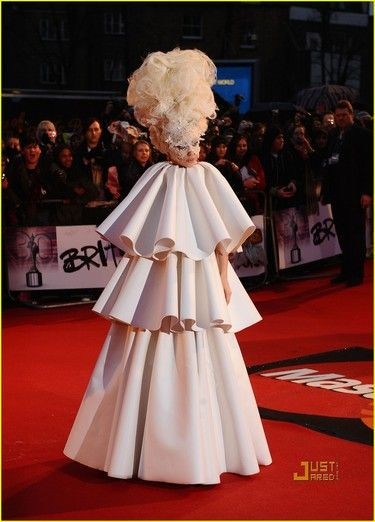 Outfit worn by Lady Gaga to the Brit awards