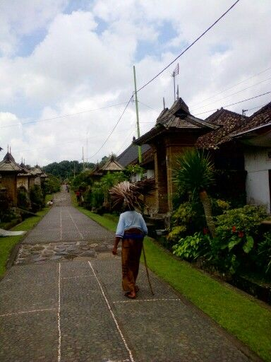 Spirit of an old balinese woman at desa adat penglipuran, bangli just a few kilometers from kintamani