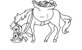 Kleurplaat het paard van Sinterklaas