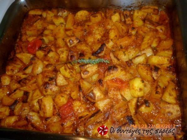 Πικάντικες πατάτες γιαχνί στον φούρνο #sintagespareas