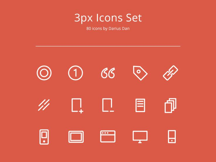 3px Icons Set by Darius Dan