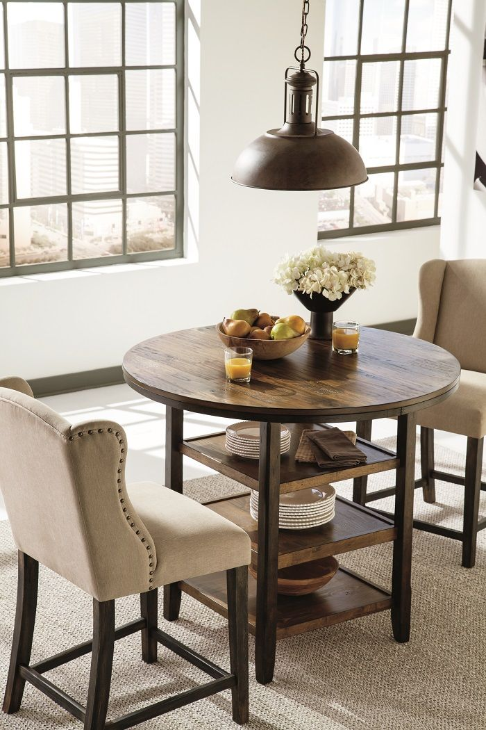 Dining Table Size Style Guide Ashley Homestore Small Round Kitchen Table Dining Room Small Dining Table Sizes Counter height round table and chairs