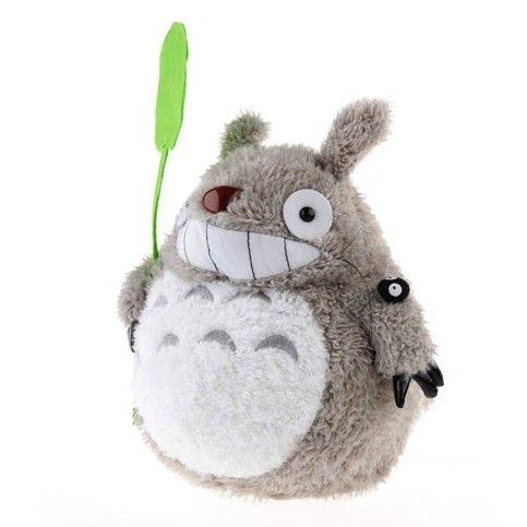 """Totoro holding a leaf"" Plush Storage Box"