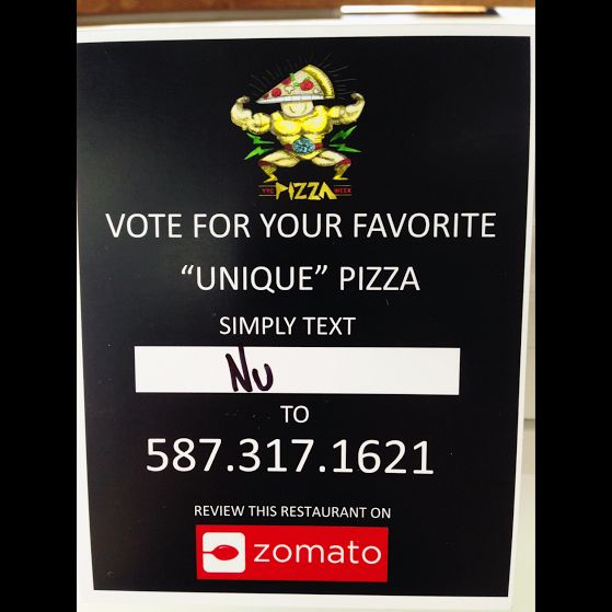Don't forget to vote for your fav #pizza #yyc, during #YYCPizzaWeek! #burgushi #sushipizza #yycfood #yyceats #charity