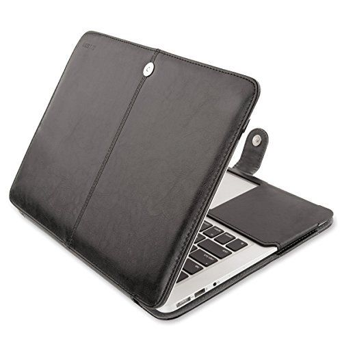 From 10.99 Mosiso Macbook Air 11 Sleeve Case Premium Quality Pu Leather Book Clip On Folio Cover With Stand Function For Macbook Air 11 Inch (a1370 And A1465) Black