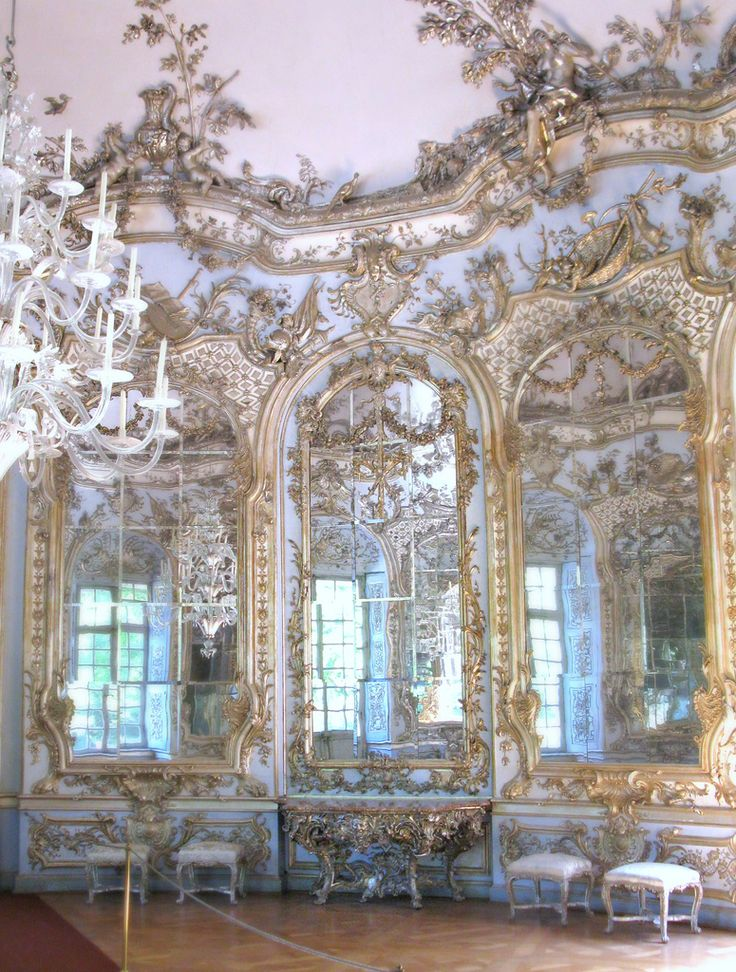 Francois Cuvilliers, Hall of Mirrors, Amalienburg, Nymphenburg Palace Grounds, Munich, 1734-9