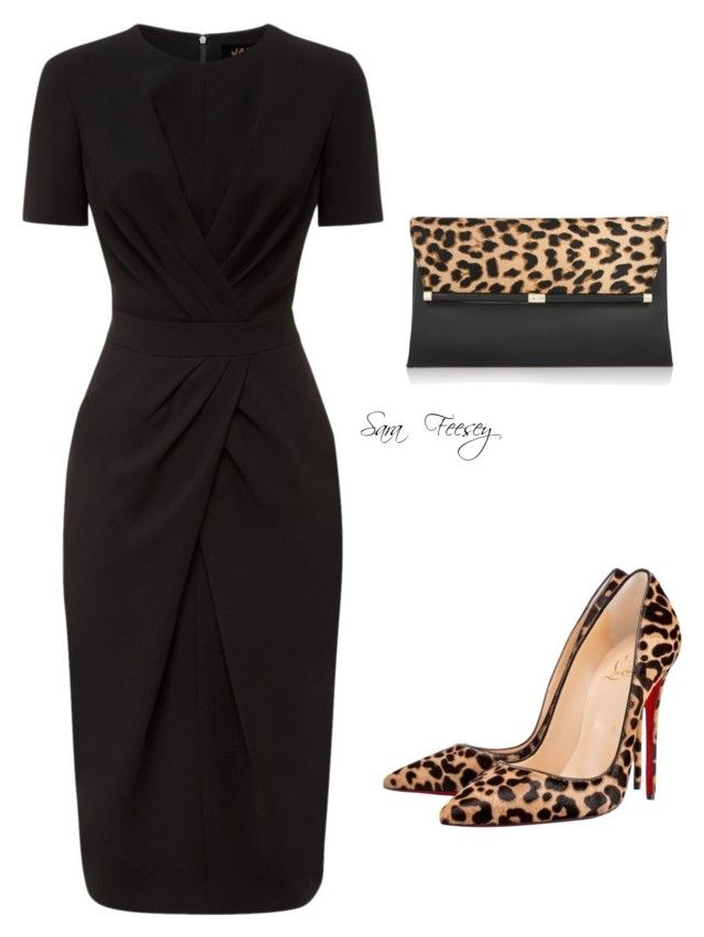 """""""Untitled #133"""" by sara-elizabeth-feesey on Polyvore featuring Jaeger, Christian Louboutin and Diane Von Furstenberg"""