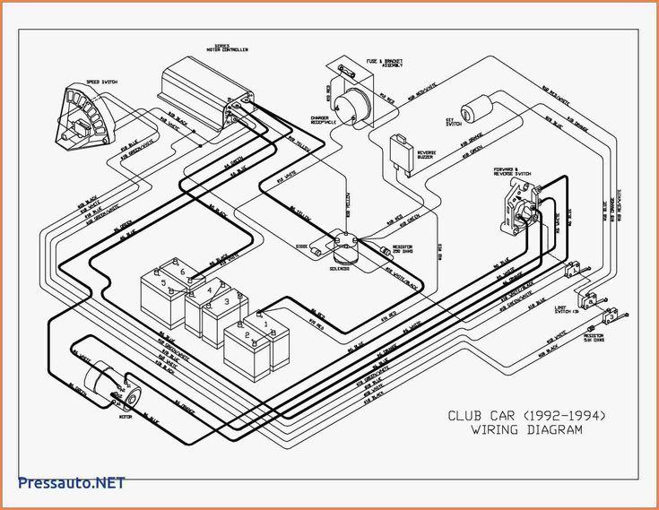 1986 Club Car 36 Volt Wiring Diagram Awesome In 2020