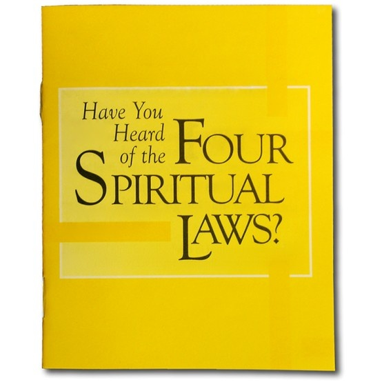 The classic Four Spiritual Laws presents a clear explanation of the gospel of Jesus Christ. One of the most effective evangelistic tools ever developed, over one hundred million copies have been distributed in all of the major languages of the world.