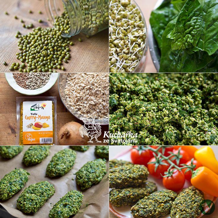 150 g fazolí mungo necháme naklíčit, trvá to asi dva až tři dny. Do mixéru vložíme půl kila špenátových listů (postupně, je jich moc), naklí...
