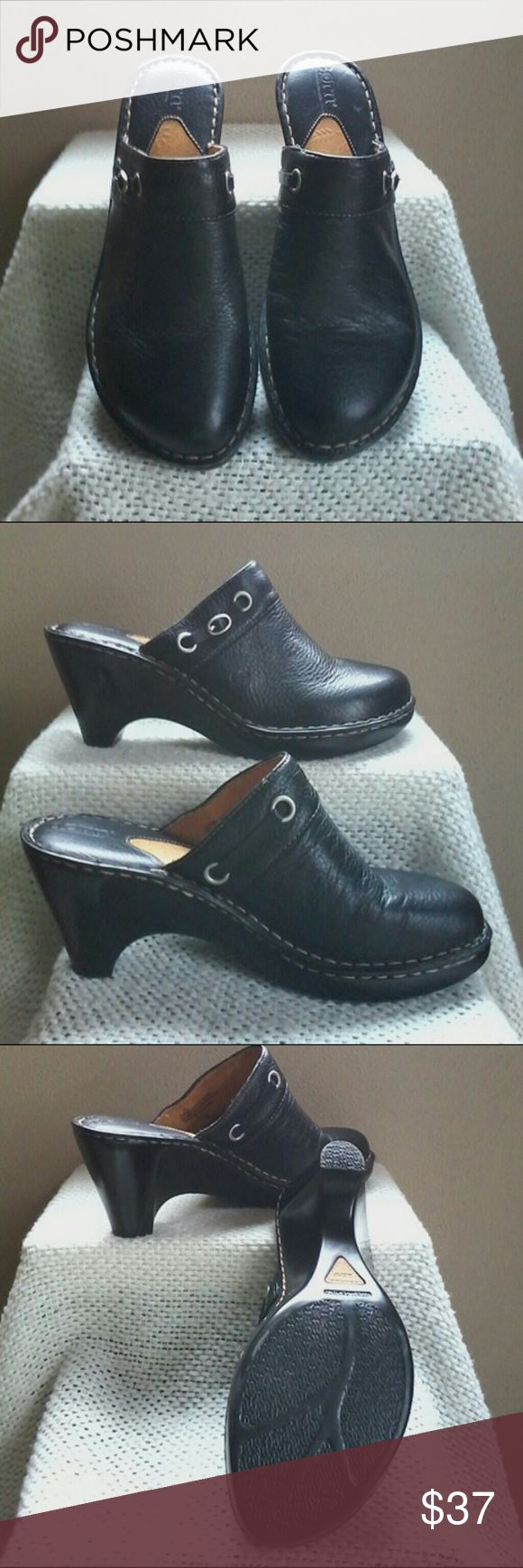 Born mule/clog Leather upper and lining.   Excellent condition. Born Shoes Mules & Clogs