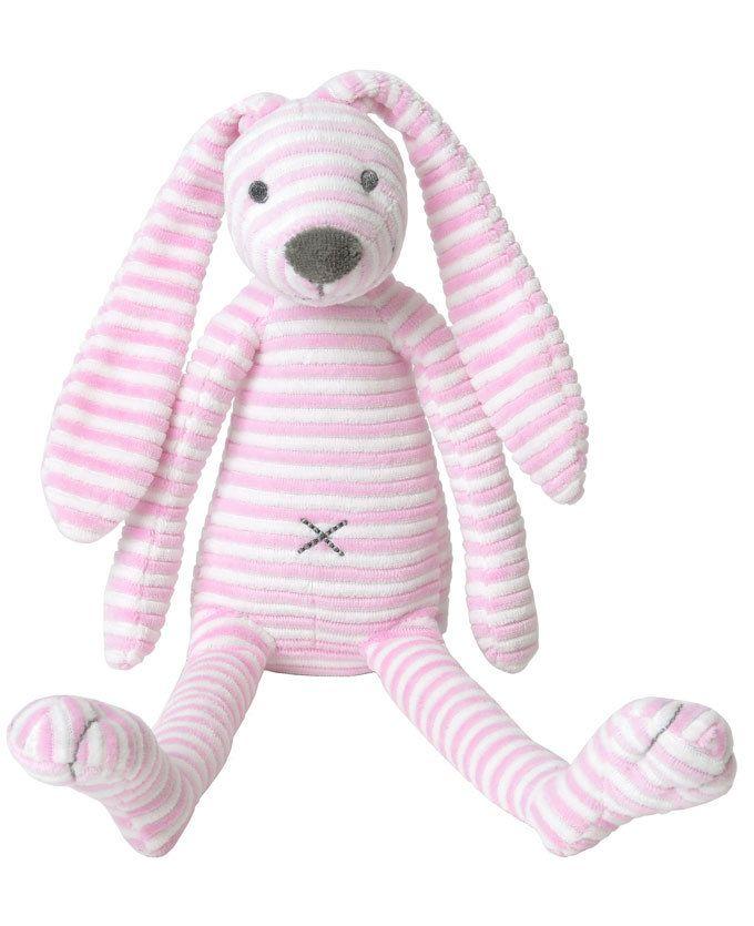 Happy Horse Pink Rabbit Reeceis met zijn roze witte strepen het schattig nieuwe vriendje van jouw kindje! #prenatal #knuffel