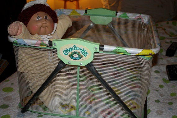 Cabbage Patch Kid Playpen Doll Bed RARE 1980s by Vintagetoygal, $45.00