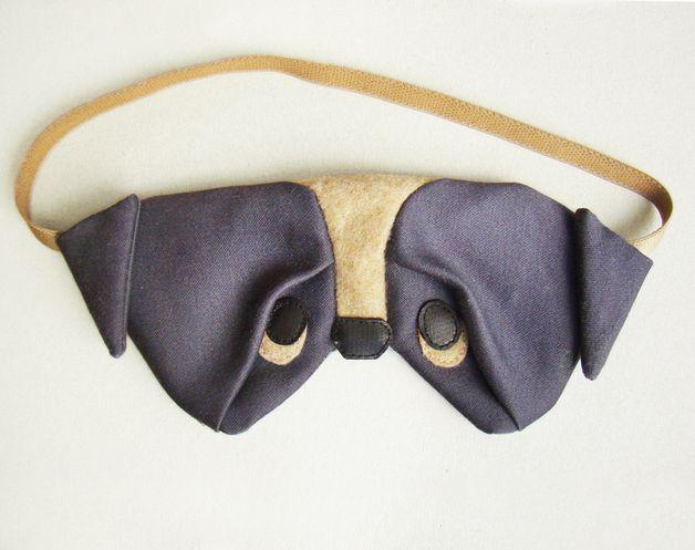 Overige - Pug sleep eye mask with etui - Een uniek product van szududu op DaWanda