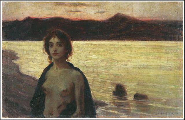 Ludwig von Hofmann (1861-1945), Jeune Femme Nue dans un Paysage
