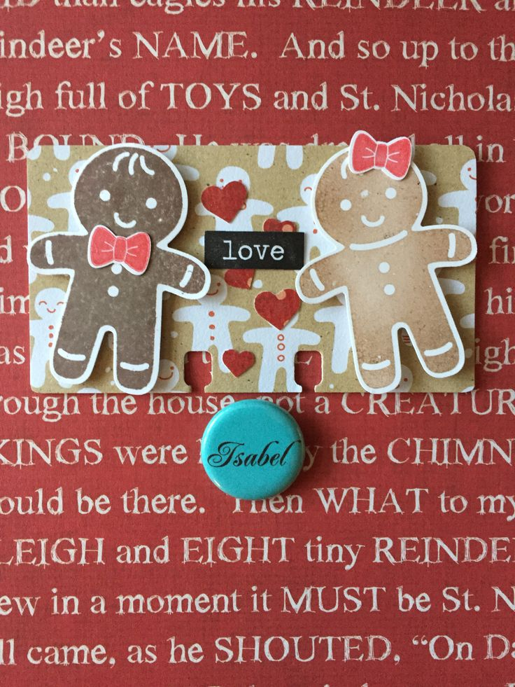 Gingerbread love Rolodex card. Stampin Up. By Isabel VM