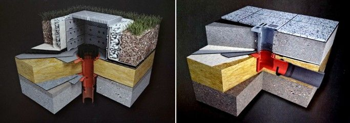 Drenaj hidroizolatie in sistem scurgere pe doua nivele, atat la terasa gradina cat si la terasa circulabila.