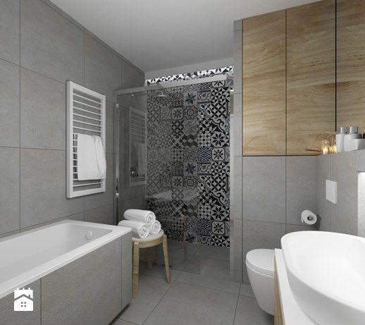 Aranżacje wnętrz - Łazienka: ŁAZIENKA - Średnia łazienka bez okna, styl eklektyczny - FORMA - Pracownia Architektury Wnętrz i Krajobrazu. Przeglądaj, dodawaj i zapisuj najlepsze zdjęcia, pomysły i inspiracje designerskie. W bazie mamy już prawie milion fotografii!
