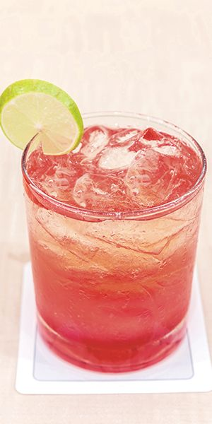 SOUTHSIDE: 1 ½ oz Smirnoff Green Apple Vodka, 3 oz cranberry juice, 1 lime wedge. Combine vodka and cranberry juice in a rocks glass filled with ice. Garnish with lime wedge.
