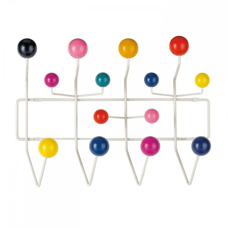 Hang It All coat rack by Charles and Ray Eames for Vitra. A classic with burst of color.