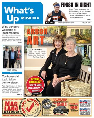 What′s Up Muskoka photos and article about FIRMLY ROOTED Art Show.