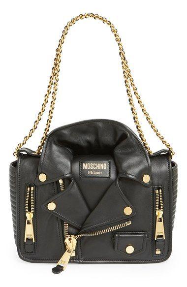 Moschino 'Biker Jacket' Shoulder Bag available at #Nordstrom