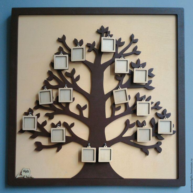 Купить Фоторамка Семейное древо - комбинированный, семейное древо, генеалогическое древо, фоторамка, дерево