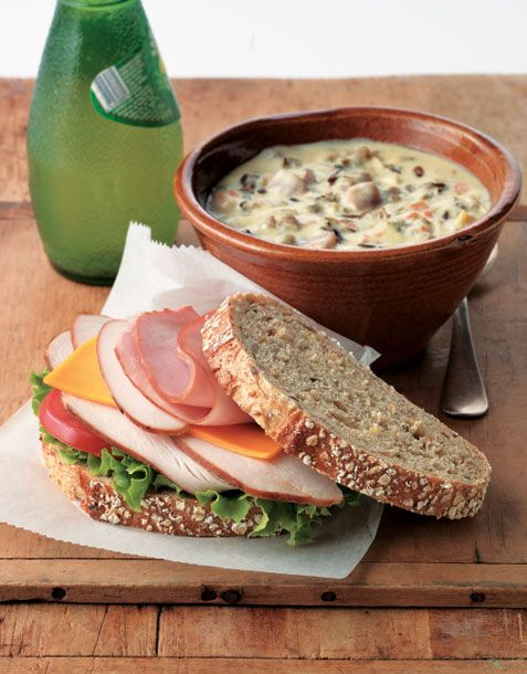 Lunds and Byerlys signature wild rice soup with a sandwhich makes a great Minnesota lunch!