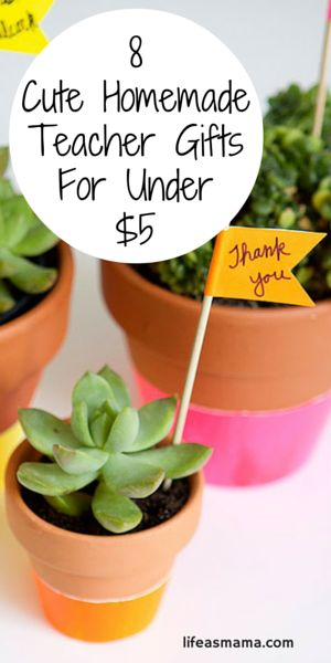 It's the end of the school year so you need a teacher gift, right? Look no further because this list has 8 cute and handmade teacher gifts for under $5! You're welcome.