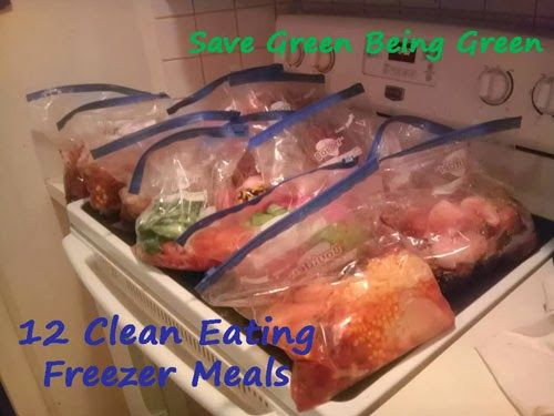 Save Green Being Green: Slow Cooker Saturday: Making 12 Clean Eating Slow Cooker Freezer Meals