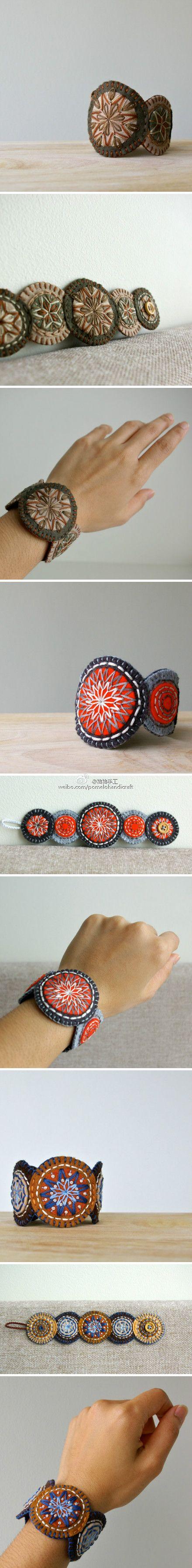 wool penny cuff bracelet!