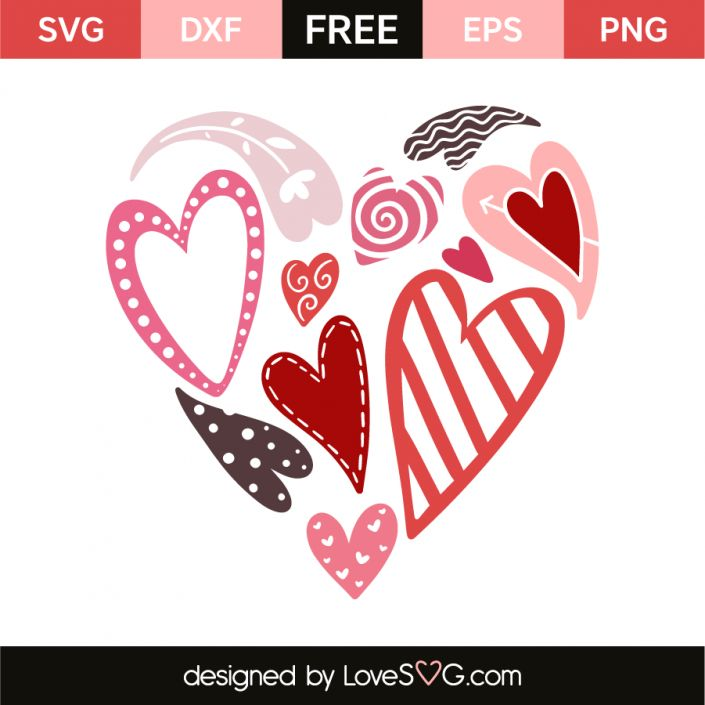 *** FREE SVG CUT FILE for Cricut, Silhouette and more *** Full of hearts
