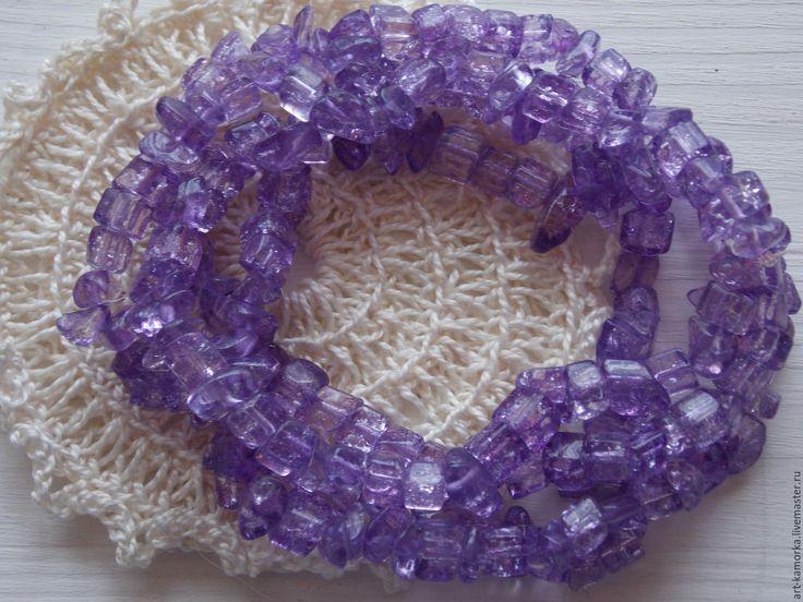 Купить Цитрин фиолетовый. нить 80 см. - фиолетовый, цитрин натуральный, купить в краснодаре, для бижутерии