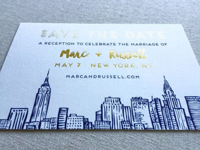 Snorkel blue and gold foil wedding invitations. Tucson Bride and Groom wedding Colors Stationer: Brie Dumais Designs