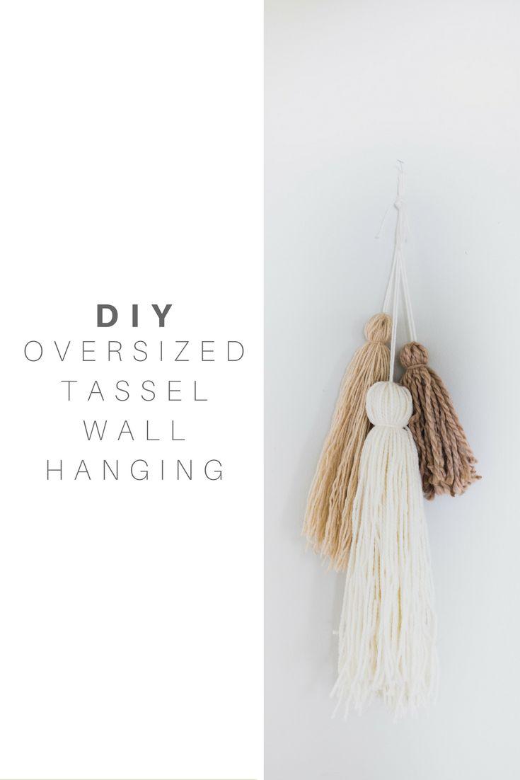 Oversized Tassel Wall Hanging || Wall Art || Home Decor || Yarn || On The Edge Of The Unknown || Curated Minimalism || OTEOTU || Yarn Wall Art