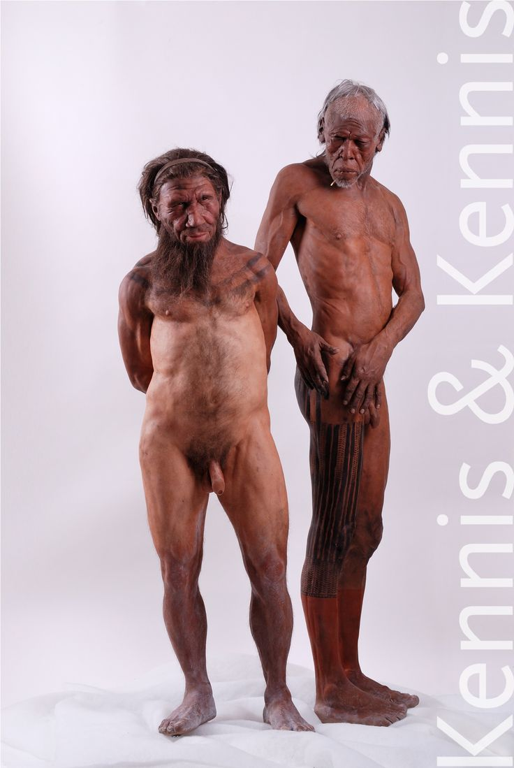 Natural History Museum NHM London, reconstructions of our ancestors made by Adrie and Alfons Kennis