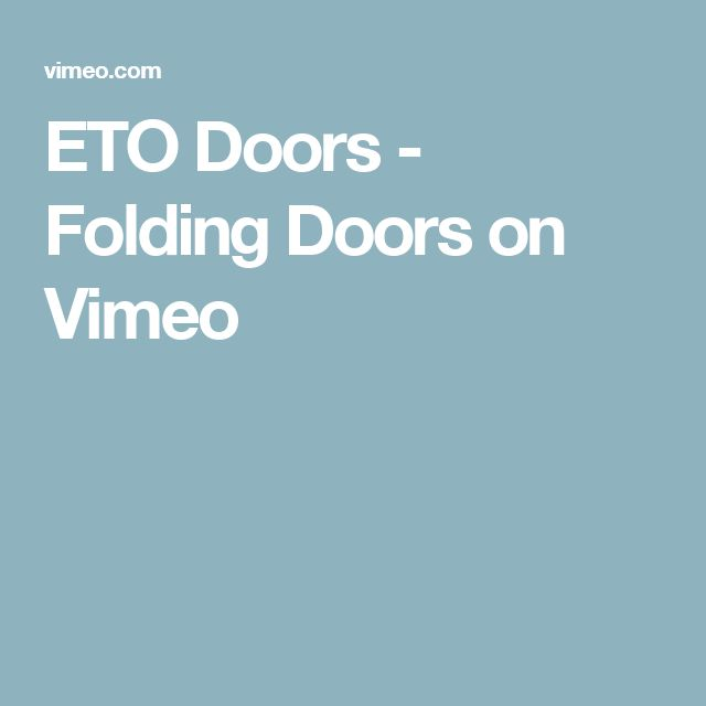 ETO Doors - Folding Doors on Vimeo  sc 1 st  Pinterest & Best 25+ Eto doors ideas on Pinterest | Entry doors Rustic front ... pezcame.com