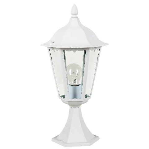 90 best exterior lighting extravaganza images on pinterest white outdoor pedestal lantern from eglo lighting cast aluminium with clear glass the full aloadofball Choice Image