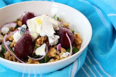 Green Lentils with Beetroot, Walnuts and Goats Cheese - The Fit Foodie