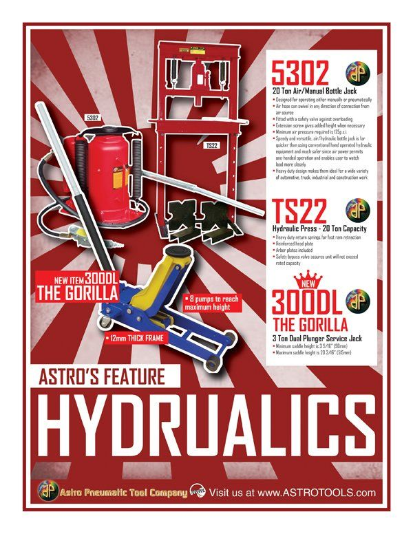 For our Tools of the Day, we have some of our top selling Hydraulic Tools! (5302, TS22, 300DL) Make sure to contact us directly for the distributor nearest you.  (800) 221-9705   #Astro #Pneumatic #Tool #Company #February #Like #Follow #Share #Repost #Thursday #TBT #ThrowbackThursday #Day #Work #California #Resolutions #Hydraulic #Jacks #HeavyDuty #Heavy #Duty