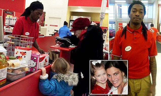 Indiana Target cashier Ishmael Gilbert helped an elderly lady count out pennies | Daily Mail Online