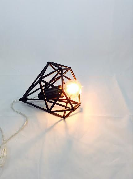 Himmeli light Cage table lamp industrial metal minimal table lamp light geometric minimal on Etsy, $92.76 AUD