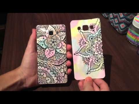 DIY: ¡Funda para el celular con zentangle art! ❤️ - YouTube
