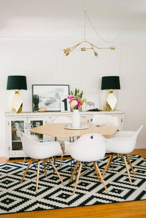 25 Interior Design with Black and White Rugs. Interiordesignshome.com
