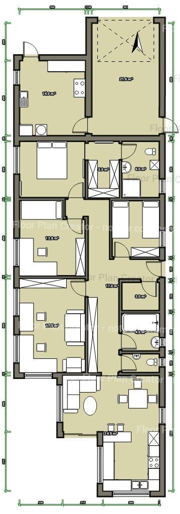 House floor plan draft 3