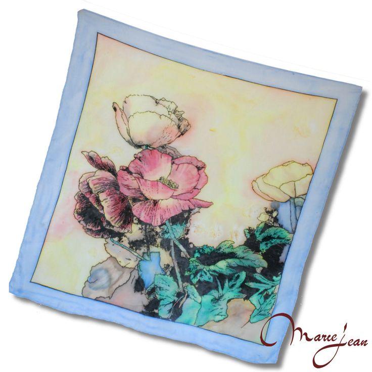 """Exkluzívna hodvábna šatka """"MAKY"""" z prírodného hodvábu, veľmi jemná na dotyk.  Hodvábna šatka s olejomaľbou inšpirovaná moderným umením. Dodajte aj jednoduchému outfitu eleganciu a luxus. www.vegalm.sk"""